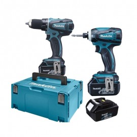 Ensemble 2 machines MAKITA DLX2014J (4Ah)